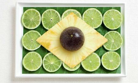 Brésil - Des drapeaux nationaux fait de nourriture