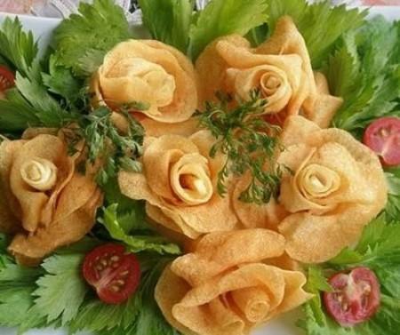 10 - Des frites en forme de rose