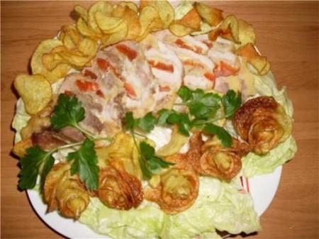 12 - Des frites en forme de rose