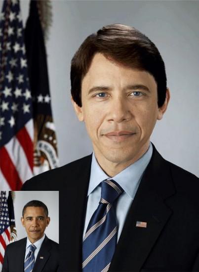 Barack Obama avec la peau blanche